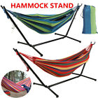 Portable Garden Double Person Hammock With Stand Frame Camping Swing Bed Outdoor