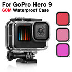 60M Waterproof Case for GoPro Hero 9 Underwater Housing Cover Lens Filter Diving