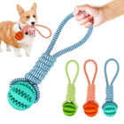 LN_ Pet Dog Puppy Cotton Rope Leakage Food Ball Molar Bite Resistant Chew Play