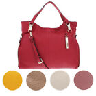 Vince Camuto Eliza Women's Pebbled Lamb Leather Convertible Tote Handbag