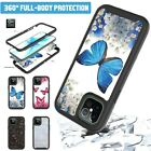 For iPhone 12 Pro Max 12 11 360 Butterfly Slim Case Cover With Screen Protector