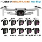 Camera Lens Filter MCUV CPL ND8 ND16 ND32 CPL ND/PL Kit for DJI Mavic Mini Drone