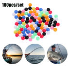 Round Mixed Color Double Pearl  Drill  Floats Balls Fishing Cross Beads