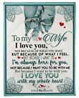 To My Wife I'm Always Here For You Raccoons Plush Fleece Blanket From Husband