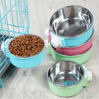Pet Food Water Bowl Dog Cat Hanging Feeder Mountable Container for Crates Cage#W