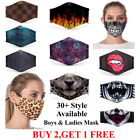Face Mask Washable Men Women Adult Face Covering Adjustable New Printed Design