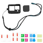 For GoPro Hero 9 Black Silicone Housing Case Protect Cover Tempered Glass Screen