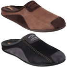 Cotswold Westwell Mens Mule Suede Textile Slip On Patchwork Comfort Slippers