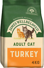 James Wellbeloved Complete Dry Adult Cat Food Turkey and Rice, 4 kg
