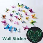 12pcs/set Luminous Butterfly Wall Stickers For Decorations Home 3d Stickers