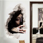 Removable 3d Scary Horror Wall Sticker Decal Halloween Party Home Decoration Sg