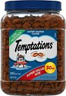 TEMPTATIONS Classic Crunchy and Soft Cat Treats Tasty Chicken Flavor, 30 Oz. Tub