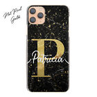 Personalised Phone Case For Xiaomi/Oppo, Initial Pink Black Marble Hard Cover