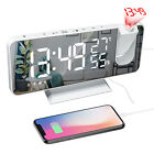 7.2 LED Digital Projection Alarm Clock FM Radio Snooze Dimmer Ceiling Projector