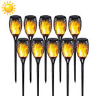 2/4/6/8/10PCS Solar Torch Lights 12 LED Flickering Dancing Flame Flaming Outdoor