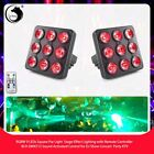 9 LED RGBW Stage Lighting Square PAR Light with Remote Controller DJ Disco Party