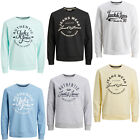 Jack & Jones Sweater Mens Chest Logo Print Crew Neck Long Sleeve Sweatshirt