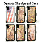 For iPhone 6 7 8 X Xs Max Shockproof Defender Case Holster Belt Clip Camouflage