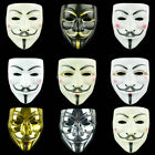 Fancy Face Mask Hacker V Anonymous for Vendetta Guy Fawkes Xmas Party Dress