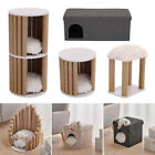 Cat Pet Kitten Cushioned Bed House Warm Cave Indoor Igloo Nest Side Table Stools