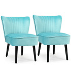 Set of 2 Armless Upholstered Chair Accent Leisure Single Sofa Chair MultiColor