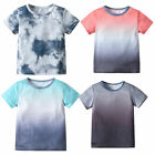 Fashion Kids Baby Toddler Boys Gradient Color Short Sleeve T-Shirt Tops