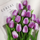 1-20pc Tulip Artificial Flower Real Touch Bouquet Floral Home Gift Wedding Decor