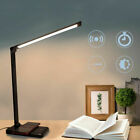 LED Desk Lamp With Fast Wireless Charger USB Rechargeable Table Bedside Light