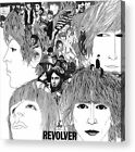 Revolver The Beatles Album Cover Art Print Posters or Canvas Framed Wall Art