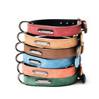 Adjustable Dog Collar Leather Leads Pet Collar Small Medium and Large Dogs LeaUK