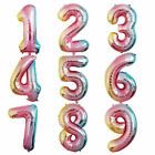 Number Rainbow Balloons 40in XLarge Party Helium Foil Birthday Balloon Decor
