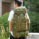 US 80L Military Tactical Backpack Army Molle Pack Bug Outdoor Bag Hiking Travel