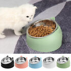 UK Cat Raised Bowl No-slip Stainless Steel Elevated Stand Tilted Feeder Bowl