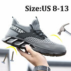 Mens Work Boots Waterproof Indestructible Sneaker Hiking Steel Toe Safety Shoes