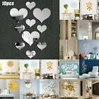Home 3d Mirror Effect Removable Wall Stickers Art Mural Decal Room Home Decor