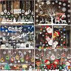 Christmas Window Stickers Merry Decorations For Home Navidad Wall Ornamenlo