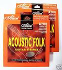 "2 SETS x ACOUSTIC GUITAR STRINGS - ALICE A208 ""QUALITY!"