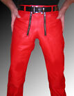 mens leather pants red/carpenter leather pants 28 29 30 31 32 34 36 38 40 42 44