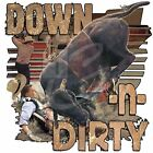 "Horse Rodeo ""DOWN -n-DIRTY"" 50/50 Gildan/Jerzees T SHIRT"