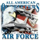 "Military ""UNITED STATES AIR FORCE"" 50/50 Gildan/Jerzees T SHIRT"