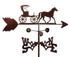 SWEN Products AMISH HORSE AND BUGGY CARRIAGE Steel Weathervane