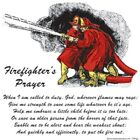 American  FIREFIGHTERS PRAYER  FREE Shipping  50/50 Gildan/Jerzees T SHIRT