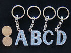Letter Alphabet Initial Name Key Chain -  Blue Crystal