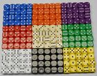 300 10mm Opaque Six Sided Spot Dice Games RPG D6 NEW