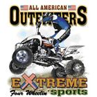 "American Extreme Sports "" FOUR WHEELIN' "" 50/50 Gildan/Jerzees T SHIRT"