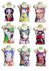 Manga Cartoon Anime Japanese Strappy Ladies T-Shirt Vest Singlet Various Sizes
