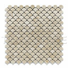 Crema Marfil Marble Polished Fan Mosaic Tile Mesh