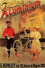 ALUMINIUM CYCLES LIGHT BICYCLE BIKE PARIS FRENCH VINTAGE POSTER REPRO