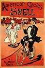 AMERICAN CYCLES SNELL BICYCLE SNOB BIKE PARIS VINTAGE POSTER REPRO