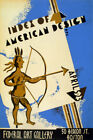 INDEX OF AMERICAN DESIGN INDIAN ART GALLERY BOSTON USA VINTAGE POSTER REPRO